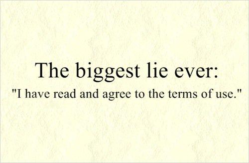 The biggest lie ever