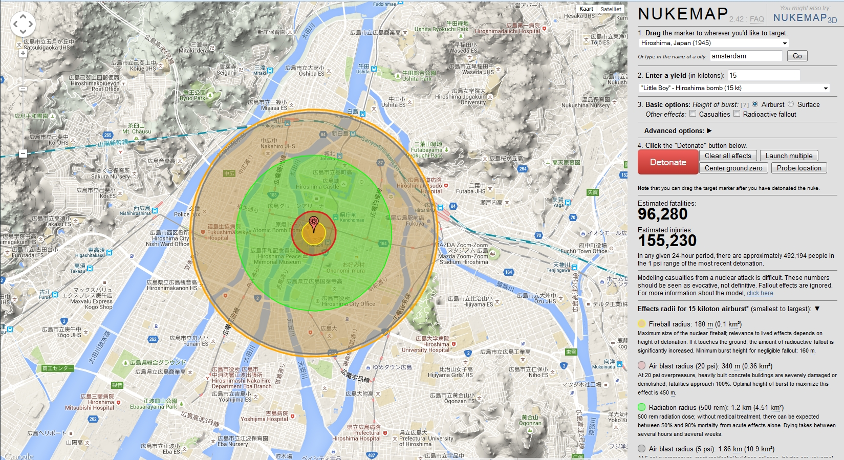 How would a nuclear bomb affect your area