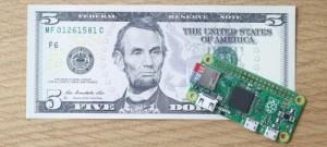 Raspberry-Pi-Zero-and-a-Five-Dollar-Bill